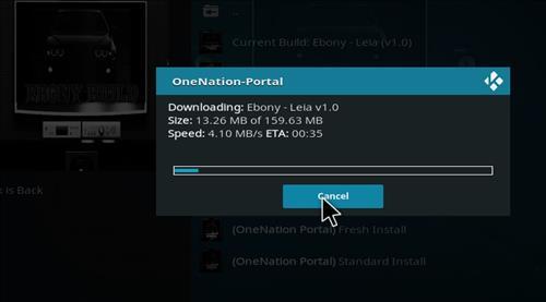 How to Install Ebony Kodi Build 18 Leia step 25