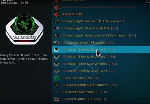 How to Install Razer 18 Family Kodi Build Leia step 23