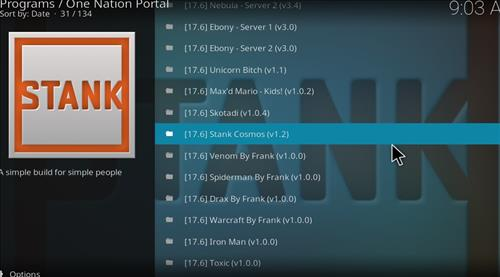 How to Install Stank Cosmos Kodi Build with Screenshots step 22