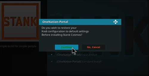 How to Install Stank Cosmos Kodi Build with Screenshots step 24