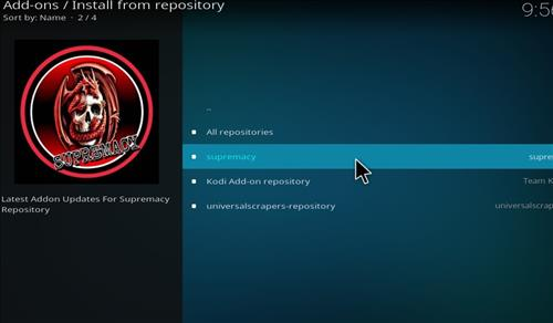 How to Install Supremacy Kodi Add-on 18 Leia step 16