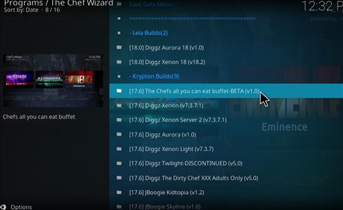 How to Install The Chefs all you can eat Buffet Kodi Build step 17
