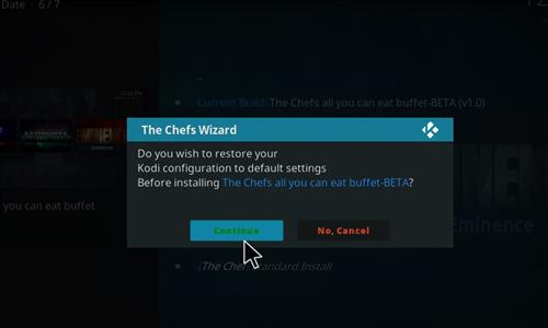 How to Install The Chefs all you can eat Buffet Kodi Build step 19