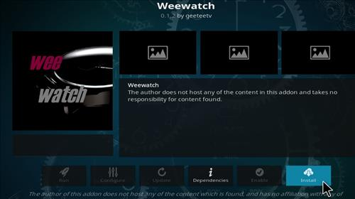 How to Install Weewatch Kodi Add-on 18 Leia step 18