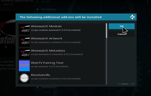 How to Install Weewatch Kodi Add-on 18 Leia step 19