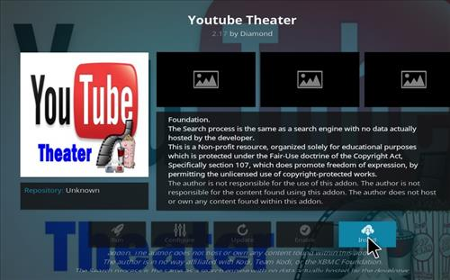 How to Install You Tube Theater Kodi Add-on with Screenshots step 19