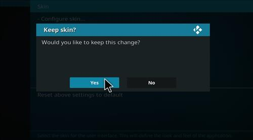 How to change the Skin back to Default Estuary alsflix step 5