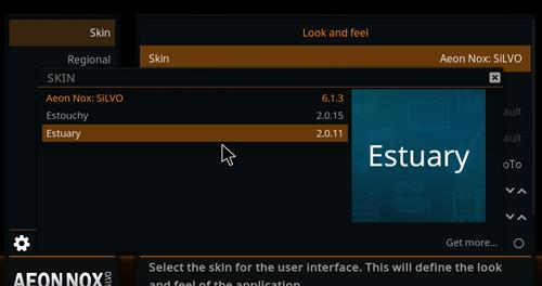 How to change the Skin back to Default Estuary ebony step 4