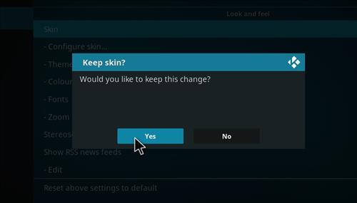 How to change the Skin back to Default Estuary leia silvo step 5