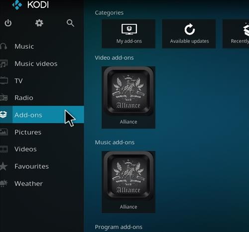 How to Install Alliance Kodi Add-on with Screenshots step 8