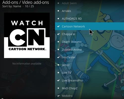 How to Install Cartoon Network Kodi Add-on with Screenshots step 17