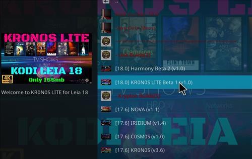 How to Install Kronos Lite Kodi 18 Leia Build step 17