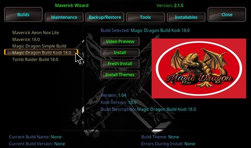 How to Install Magic Dragon Kodi 18 Leia Build step 22
