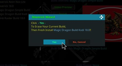 How to Install Magic Dragon Kodi 18 Leia Build step 24