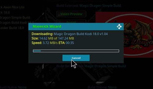 How to Install Magic Dragon Kodi 18 Leia Build step 25