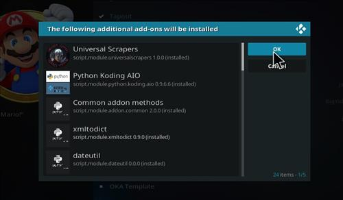 How to Install Mario Kodi 18 Leia Add-on step 19