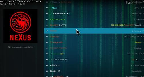 How to Install Nexus Kodi Add-on with Screenshots step 17