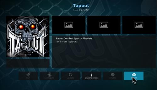 How to Install Tapout Kodi 18 Leia Add-on step 18