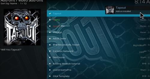 How to Install Tapout Kodi 18 Leia Add-on step 20