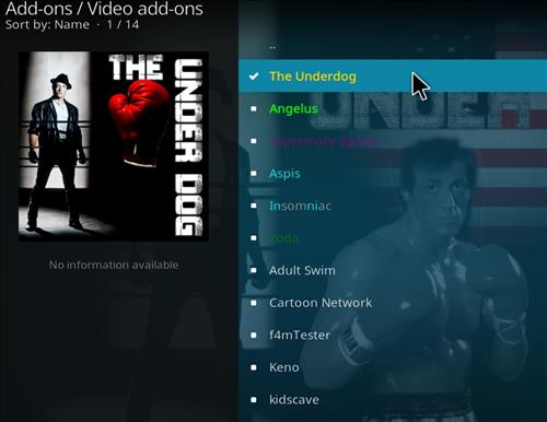 How to Install The Underdog Kodi Add-on with Screenshots step 18