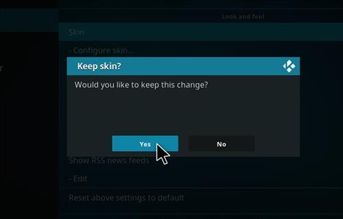 How to change the Skin back to Default Estuary kronos lite step 5