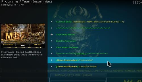 How to Install Black and Gold Kodi Build with Screenshots step 18