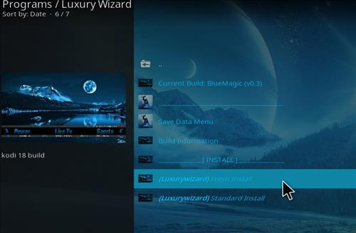 How to Install Blue Magic Kodi Build 18 Leia step 18