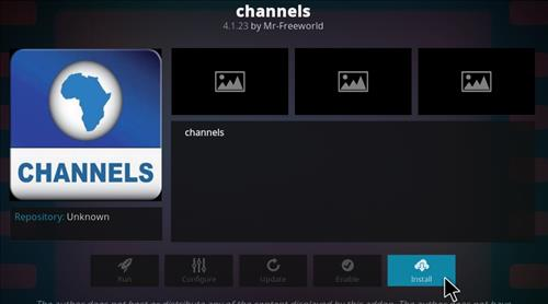 How to Install Channels Kodi Add-on with Screenshots step 18