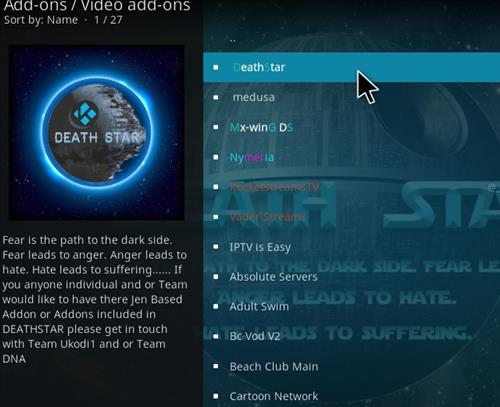 How to Install DeathStar Add-on Kodi 18 Leia step 17