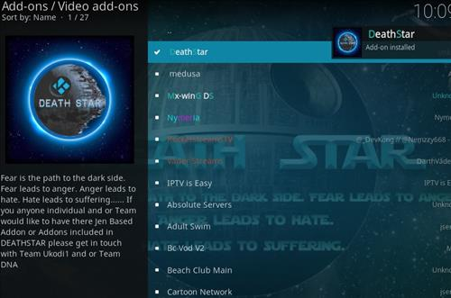 How to Install DeathStar Add-on Kodi 18 Leia step 20