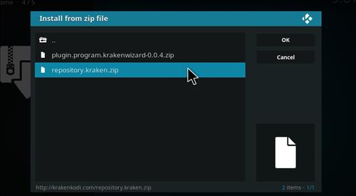 How to Install Kraken Kodi Build with Screenshots step 12