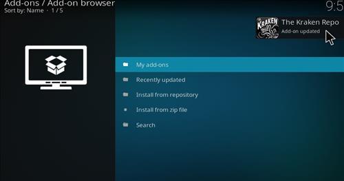 How to Install Kraken Kodi Build with Screenshots step 13
