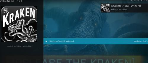 How to Install Kraken Kodi Build with Screenshots step 19