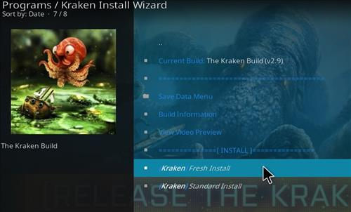 How to Install Kraken Kodi Build with Screenshots step 23