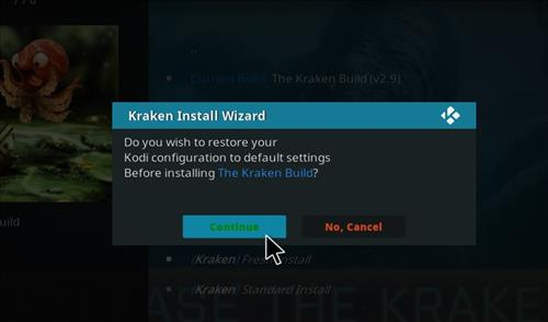 How to Install Kraken Kodi Build with Screenshots step 24