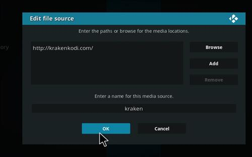 How to Install Kraken Kodi Build with Screenshots step 7