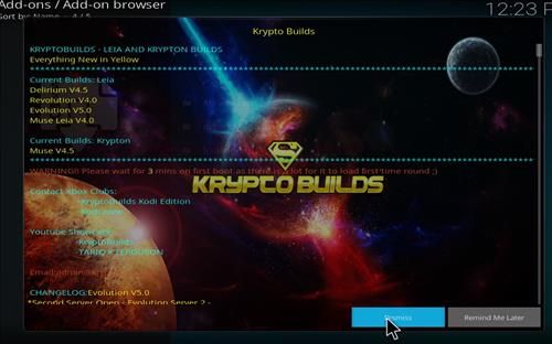 How to Install Krypto Build Wizard with Screenshots step 14