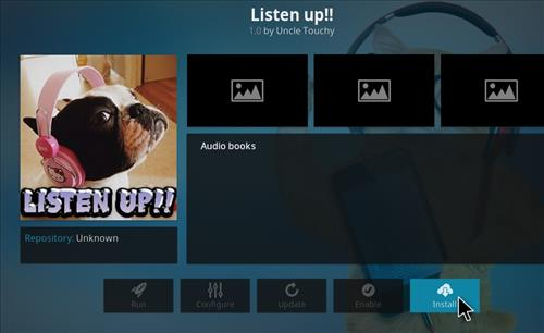 How to Install Listen up Kodi Add-on with Screenshots step 18