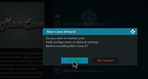How to Install Man Cave X Kodi 18 Leia Build step 26