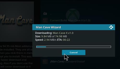 How to Install Man Cave X Kodi 18 Leia Build step 27