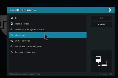 How to Install Slamious Kodi Build with Screenshots step 11