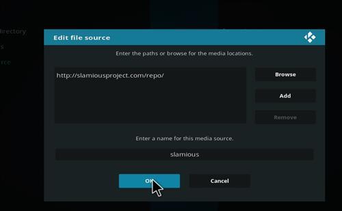 How to Install Slamious Kodi Build with Screenshots step 7