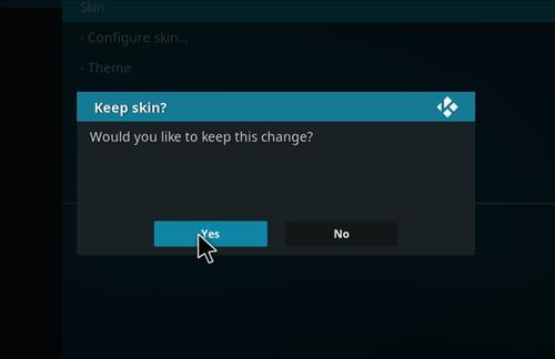 How to change the Skin back to Default Estuary black and gold step 5