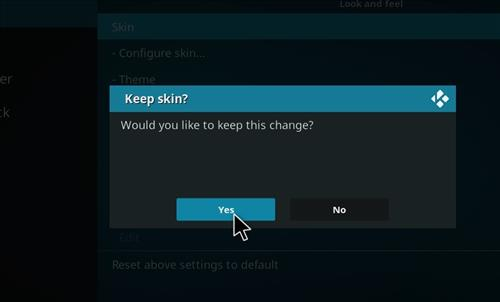 How to change the Skin back to Default Estuary women on tv step 5