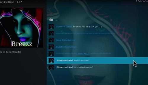 How to Install Breezz RD Kodi Build 18 Leia step 23