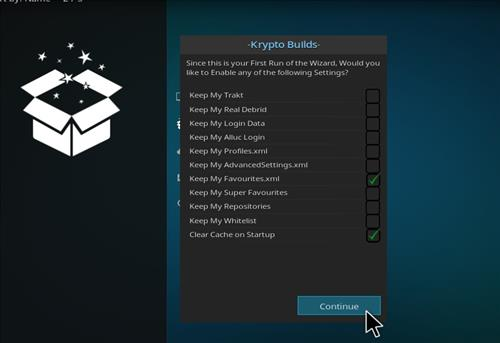 How to Install Infinity Build Kodi 18 Leia step 15