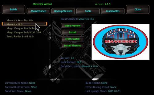 How to Install Maverick Kodi 18 Build Leia step 22