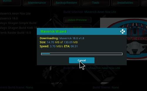 How to Install Maverick Kodi 18 Build Leia step 25