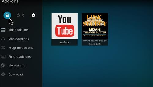 How to Install Movie Theater Butter Kodi Add-on Select link step 9