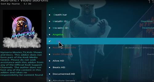 How to Install Nymeria Kodi Add-on with Screenshots step 17